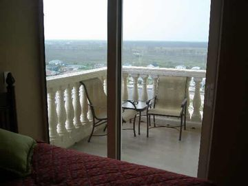 View of the balcony from the third bedroom