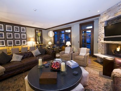 Main living room with deck attached overlooking stunning views of Empire Pass