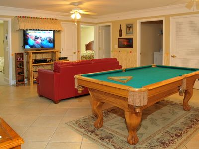 Crescent Beach villa rental - Game Room with 46' HDTV Small Refriderator