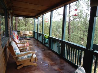 Ruidoso cabin photo - Spacious Deck--and what a view . . .