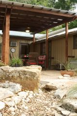 San Antonio bungalow photo - Your own private covered outdoor patio and Xeriscaped backyard in downtown SA