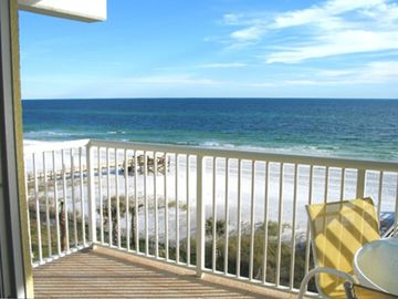 Okaloosa Island condo rental - Our gorgeous gulf front view from our balcony with 180 degree views!