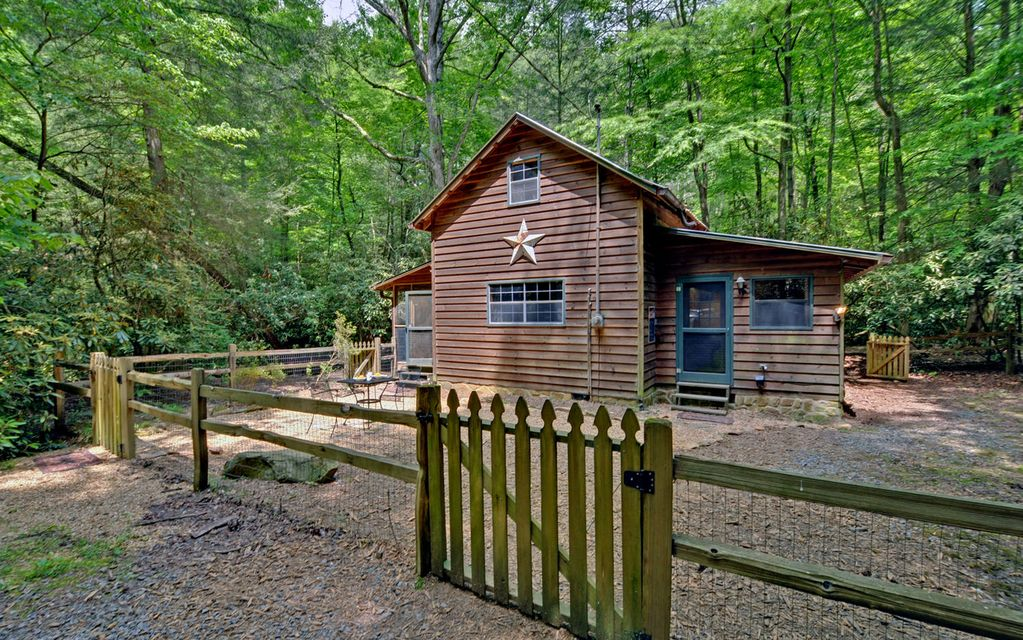 Blue ridge mountains waterside pet friendly cabin with for Vacation cabins north georgia mountains