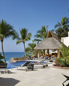 Puerto Vallarta villa rental - View of Oceanside Palapa and Beach