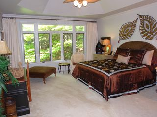 Big Canoe house photo - Master suite with lake view has two separate bedrooms, one king, two murphy beds