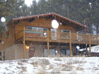 Florissant cabin photo - A wonderful light snow fall - perfect mountain setting