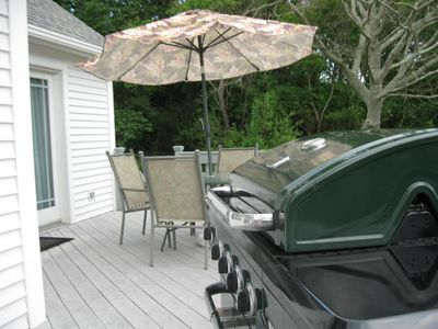 private deck and gas grill