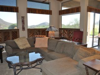Scottsdale Troon house photo - Family room view looking southwest towards the pool and beautiful mountains!