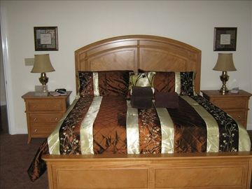 Master bedroom with king size suite set