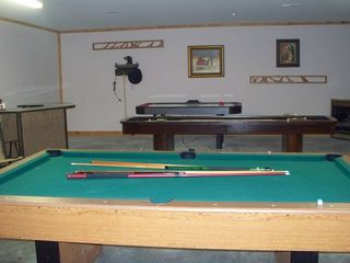 Gatlinburg cabin photo - Game room with pool table, air-hockey, darts, shuffle board, corn-hole