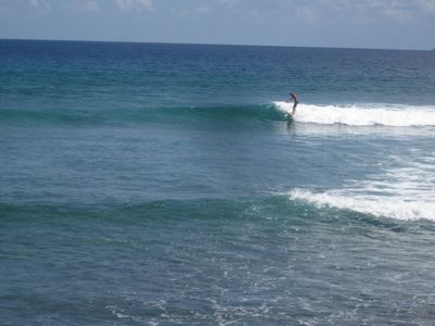 Watch the surfers from the beach. One of the best surf spots in the VI.
