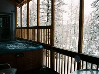 Durango house photo - Hot Springs Spa 6 Person Hot Tub on Covered Deck