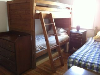 Dennisport cottage photo - Bedroom 2 with bunks and twin
