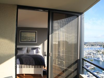 Private balcony opens to Master Suite