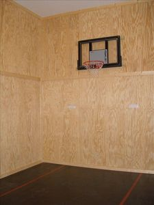 Indoor Half-Court Basketball Court
