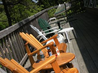 Tree top deck with hammock - Wellfleet house vacation rental photo