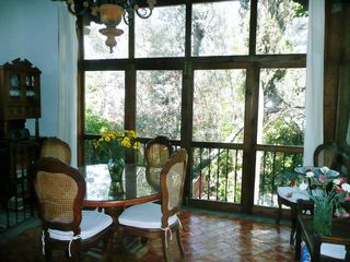 San Miguel de Allende villa photo - Dining room with view of garden