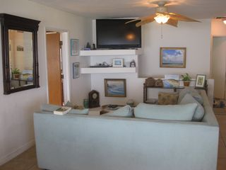 Ocean Beach house photo - Living area and HDTV.