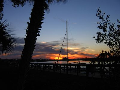 New Smyrna Beach condo rental - Amazing sunset viewed from private boardwalk