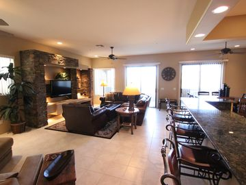Scottsdale Troon townhome rental - Great Room leads to Patio with views