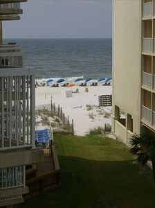 view of gulf from your roomy balcony