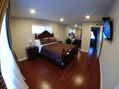 "Master Bedroom with 50"" HDTV"