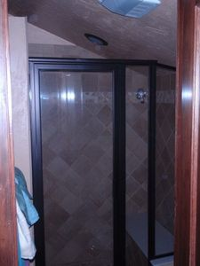 Shower in master bedroom