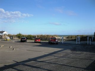 Garden City Beach house photo - Private Oceanfront Parking Area