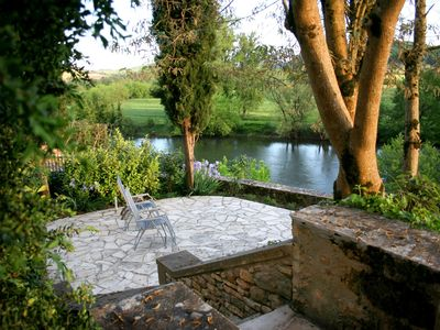 Lower Garden with full sun and panoramic river views.