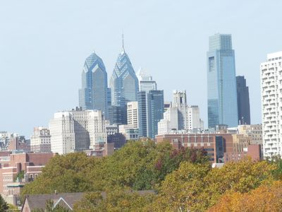 View from roofdeck toward center city