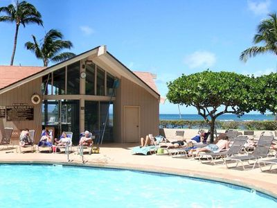 Beachfront pool and cabana