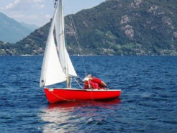 Sailing on Lake Lugano