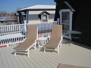 Cape May house photo - New Back Deck and New Chaise Lounges - March 2012
