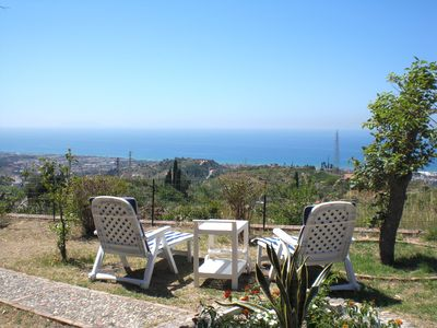 Villafrance Tirrena villa rental - The superb garden view