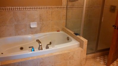 Master Jacuzzi bath and shower