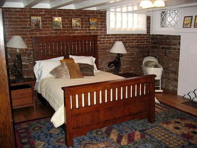 The Governor's Suite master bedroom with deluxe private bathroom