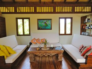 Uvita villa photo - Relax in the loft. Read, watch DVD's, play board games, 3 fold down couches.
