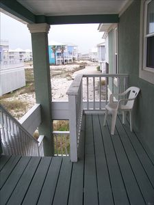 Back porch and steps downstairs