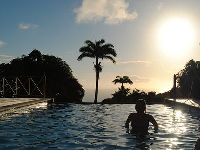 Gingerland villa rental - View from the Infinity Pool