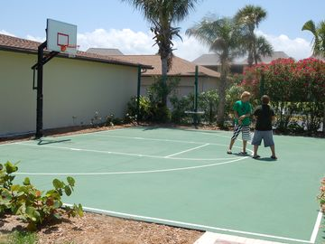 Brand New Sports Court Basketball is conveniently located right by the pool