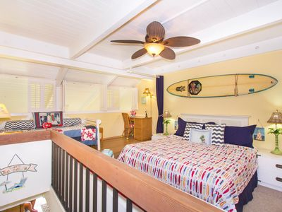 Only our condo- enlarged & enclosed LOFT bedroom.  Shutters close. Ceiling fan.