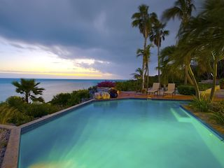 Providenciales - Provo villa photo - Views during twilight