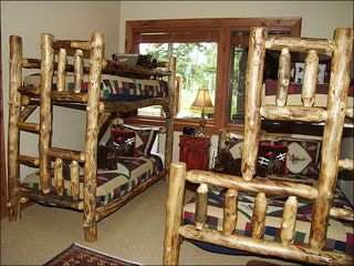 Avon house photo - Fifth Bedroom has Two Bunk Beds, One with a Queen/Twin Combination