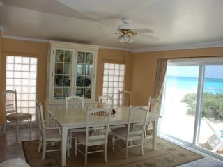 Great Exuma house photo - Dining Room with Slider onto Sun Deck (Ocean View)