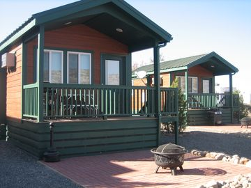 Cornville cabin rental - Enjoy Verde Canyon River Views and an evening by the campfire