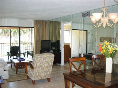 The Main Living Area Opens to the Screened Lanai.