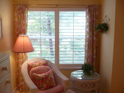 Hidden Dunes cottage rental - MasterSitting Area Alcove is perfect for a relaxing space to read a book!
