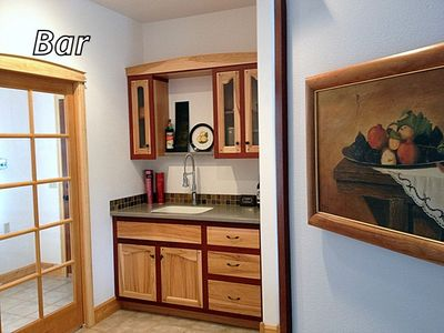 Wet bar and mud room