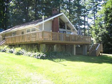 Lake George house rental - Another exterior photo highlighting deck