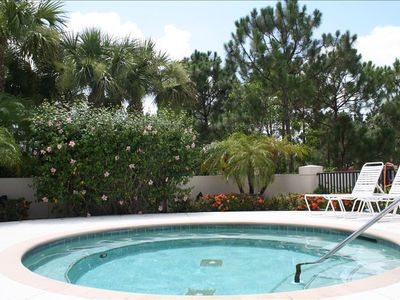 Port St. Lucie condo rental - Hot tub patio near the pool